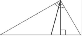 Решение №2070 В прямоугольном треугольнике угол между высотой и биссектрисой, проведёнными из вершины прямого угла, равен 14°.