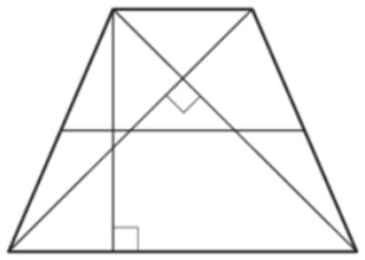 В равнобедренной трапеции диагонали перпендикулярны. Высота трапеции равна 46. Найдите её среднюю линию.