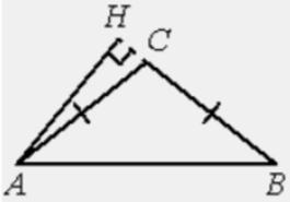 В треугольнике 𝐴𝐵𝐶 𝐴𝐶=𝐵𝐶, 𝐴𝐵=20, высота 𝐴𝐻 равна 8. Найдите синус угла 𝐵𝐴𝐶.