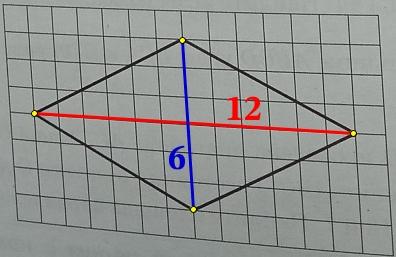 Решение №2221 На клетчатой бумаге с размером клетки 1х1 изображён ромб. Найдите длину его большей диагонали.