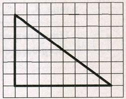 На клетчатой бумаге с размером клетки 1 х 1 изображён прямоугольный треугольник. Найдите длину его большего катета.