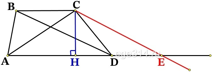 Найдите площадь трапеции, диагонали которой равны 10 и 8, а средняя линия равна 3.