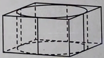 Цилиндр вписан в правильную четырёхугольную призму. Радиус основания и высота цилиндра равны 3.