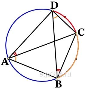 В выпуклом четырёхугольнике АВСD углы BCA и BDA равны. Докажите, что углы ABD и ACD также равны.