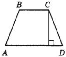 Высота равнобедренной трапеции, проведённая из вершины С, делит основание AD на отрезки длиной 14 и 19. Найдите длину основания ВС.